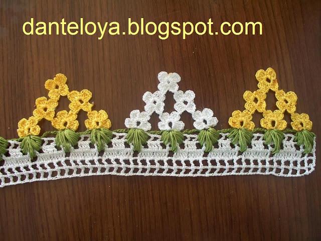 çiçekli havlu kenarı modelleri