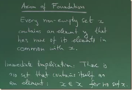 physics set theory axiom foundation 1