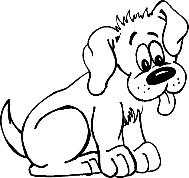 Coloring Pages Of Puppies   Pics To Color