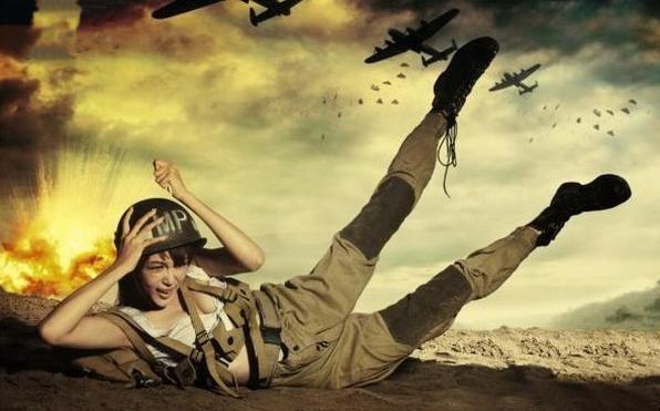 ảnh cô gái lính