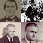 Four generations of Finley Men  Upper left: James Washington Finley  Upper right: Newton Gleaves Finley (Was 10 when they went west in 1852) Lower left: Dozier Finley Lower right: William Latta Finley