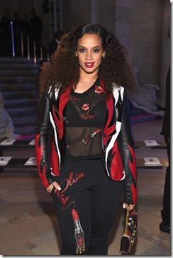NEW YORK, NY - FEBRUARY 13:  Dascha Polanco attends the Front Row for the Philipp Plein Fall/Winter 2017/2018 Women's And Men's Fashion Show at The New York Public Library on February 13, 2017 in New York City.  (Photo by Dimitrios Kambouris/Getty Images for Philipp Plein)