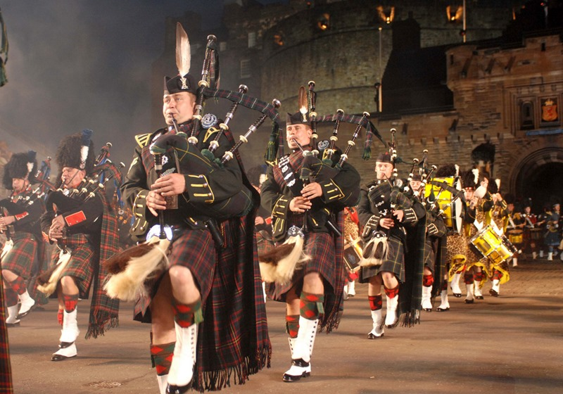 The 2009 Edinburgh Military Tattoo begins! Date 06/08/09 Location Edinburgh Castle Photo by Mark Owens Photo caption. Massed Pipes and Drums at the Tattoo. A firm favorite! Performers from all over the World descended on Edinburgh Castle for the 2009 Edinburgh Military Tattoo. Featuring at this year's event are: The Massed Pipes and Drums; The Tongan Royal Corps of Musicians; A Robert Burns 250th Anniversary Tribute; She Huo Cultural Act, Xiam (from China) Swiss Army Central Band; Massed Highland Dancers from Australia; Top Secret Drum Corps; The Royal Air Force Massed Bands; For further information contact, Army Press Officer, Martine McNee, telephone 0131 310 2091.
