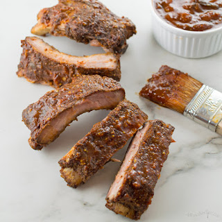 Slow Cooker Ribs with Bourbon Sauce