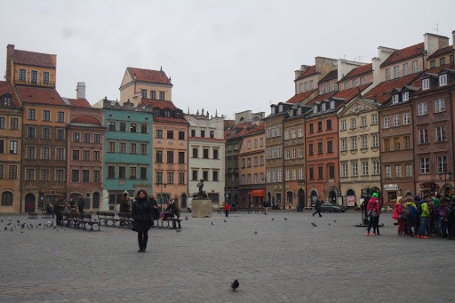 Old Town Market Place in Warsaw Poland
