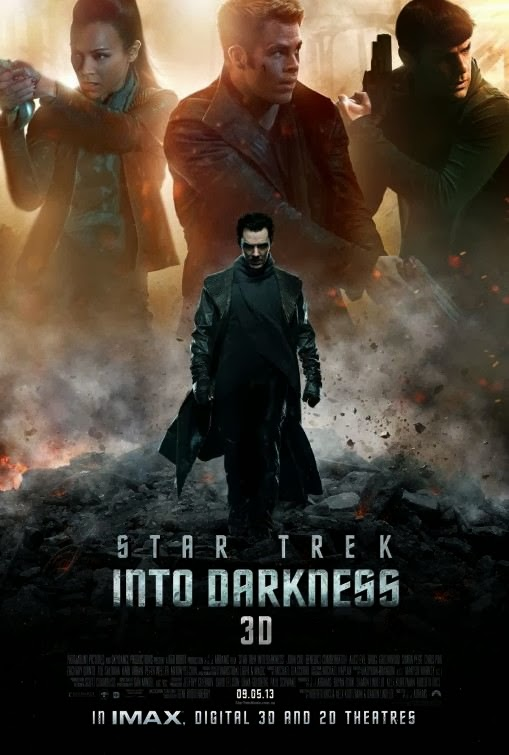 Poster Of Star Trek Into Darkness (2013) Full Movie Hindi Dubbed Free Download Watch Online At Alldownloads4u.Com