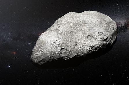 ilustração do asteroide exilado 2004 EW95