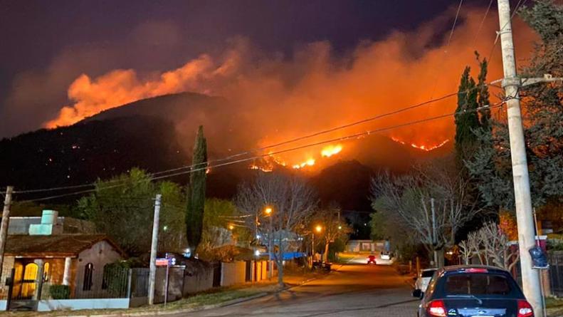 Incendio en Villa Carlos Paz
