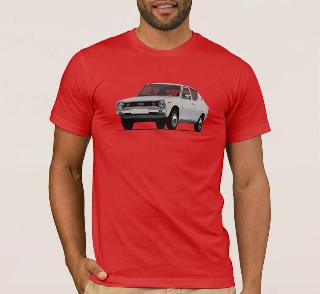 Datsun 100A paita - hopeanharmaa