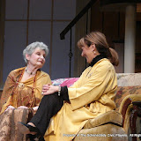 Joanne Westervelt and Benita Zahn in THE ROYAL FAMILY (R) - December 2011.  Property of The Schenectady Civic Players Theater Archive.