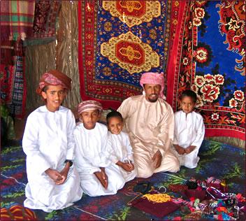 Oman - Bedouin family (photo credit: travelwithachallenge.com)