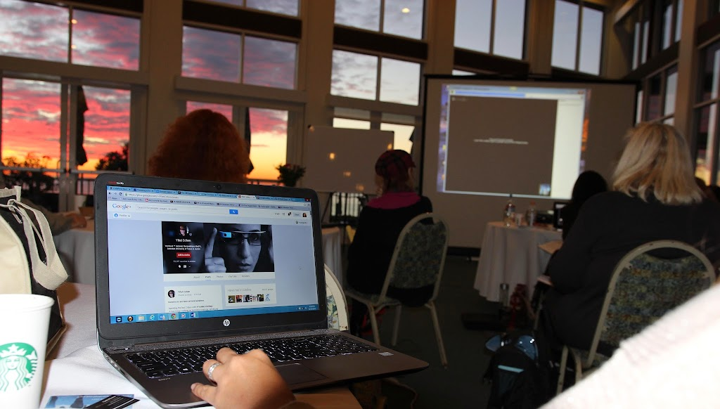yifat cohen compassion happens google hangout screen and sunset