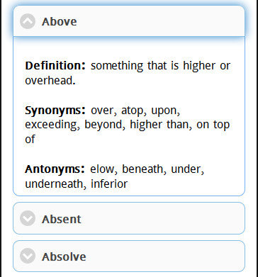 Assignment antonym
