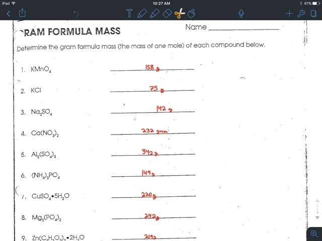 Gavin Gutowsky Chemistry Blog: Mol worksheet pogil