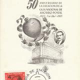 Kaart /Envelop met een afb. spaarpot op stempel / postzegel/enz. uitgegeven door banken enz.