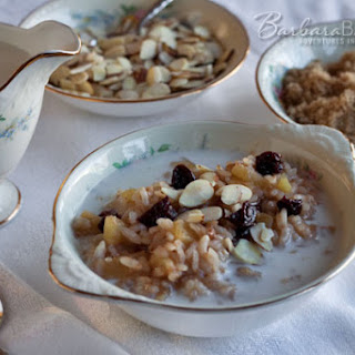 Apple Cherry Breakfast Risotto