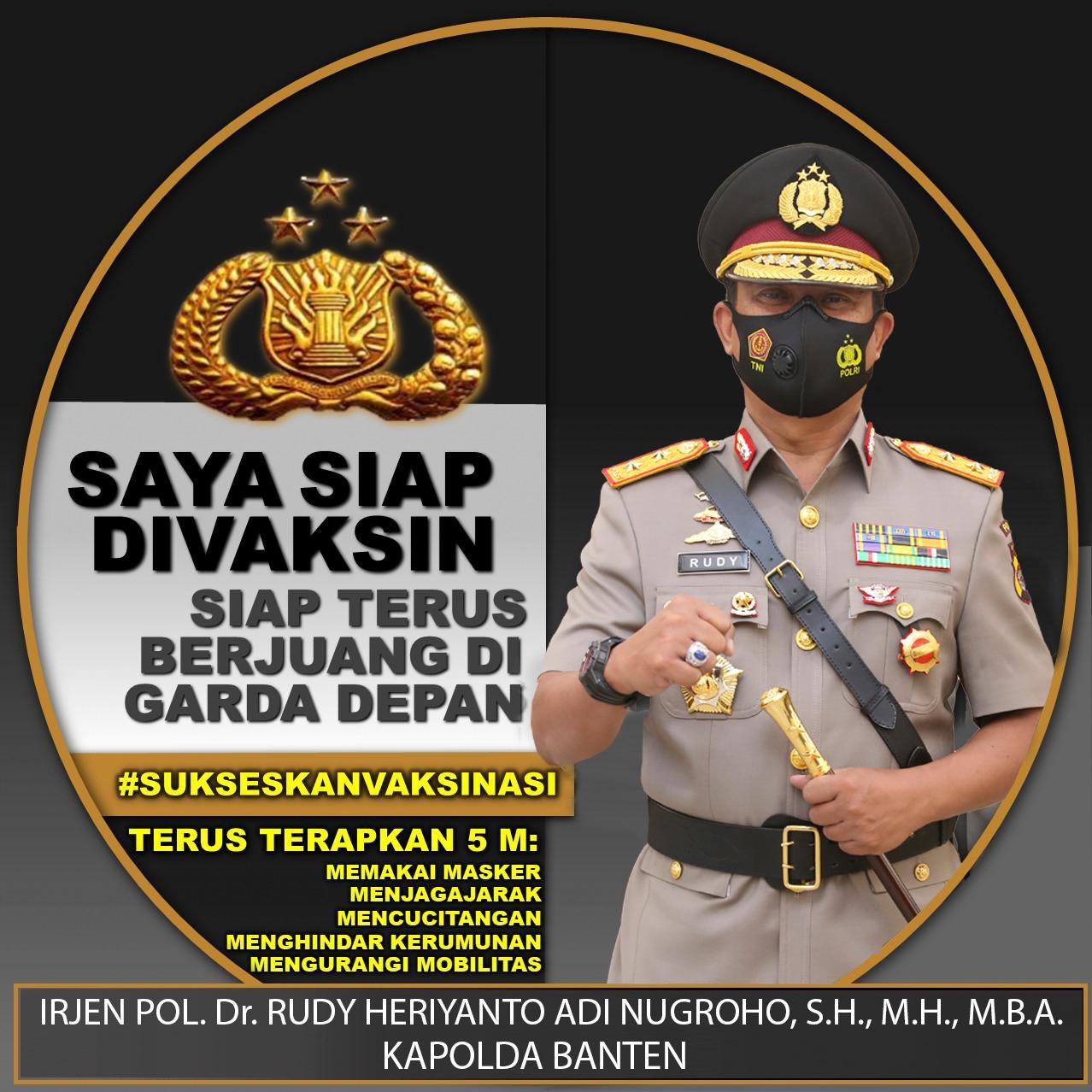 Kapolda Banten dan Forkopimda, Nyatakan Siap Divaksin Covid-19