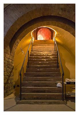 Fort St. Josef - die Mainzer Unterwelt: die Treppe zum Eingang