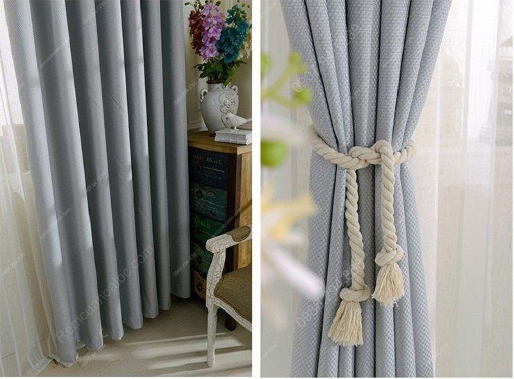 Rèm cửa đẹp hà nội một màu xám bạc sang trọng 4