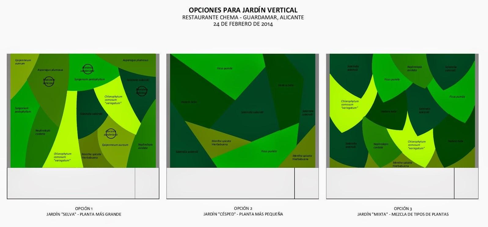 jardín vertical F+P mixto jardines verticales guardamar alicante diseño plano