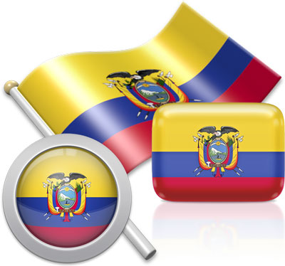 Ecuadorian flag icons pictures collection