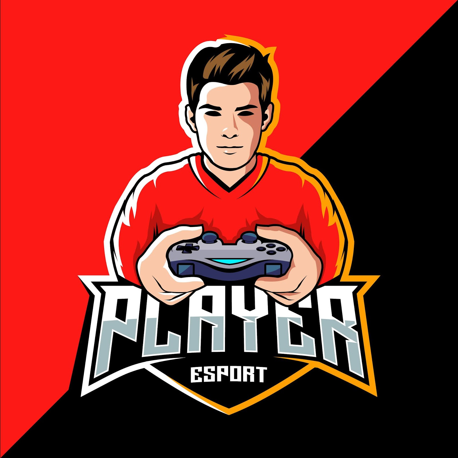 Pro Player Esport Game Logo Free Download Vector CDR, AI, EPS and PNG Formats