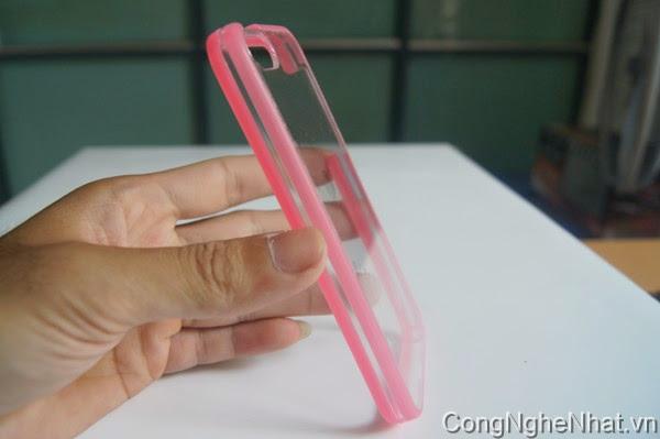 Ốp lưng cho IPHONE 5/5S viền hồng