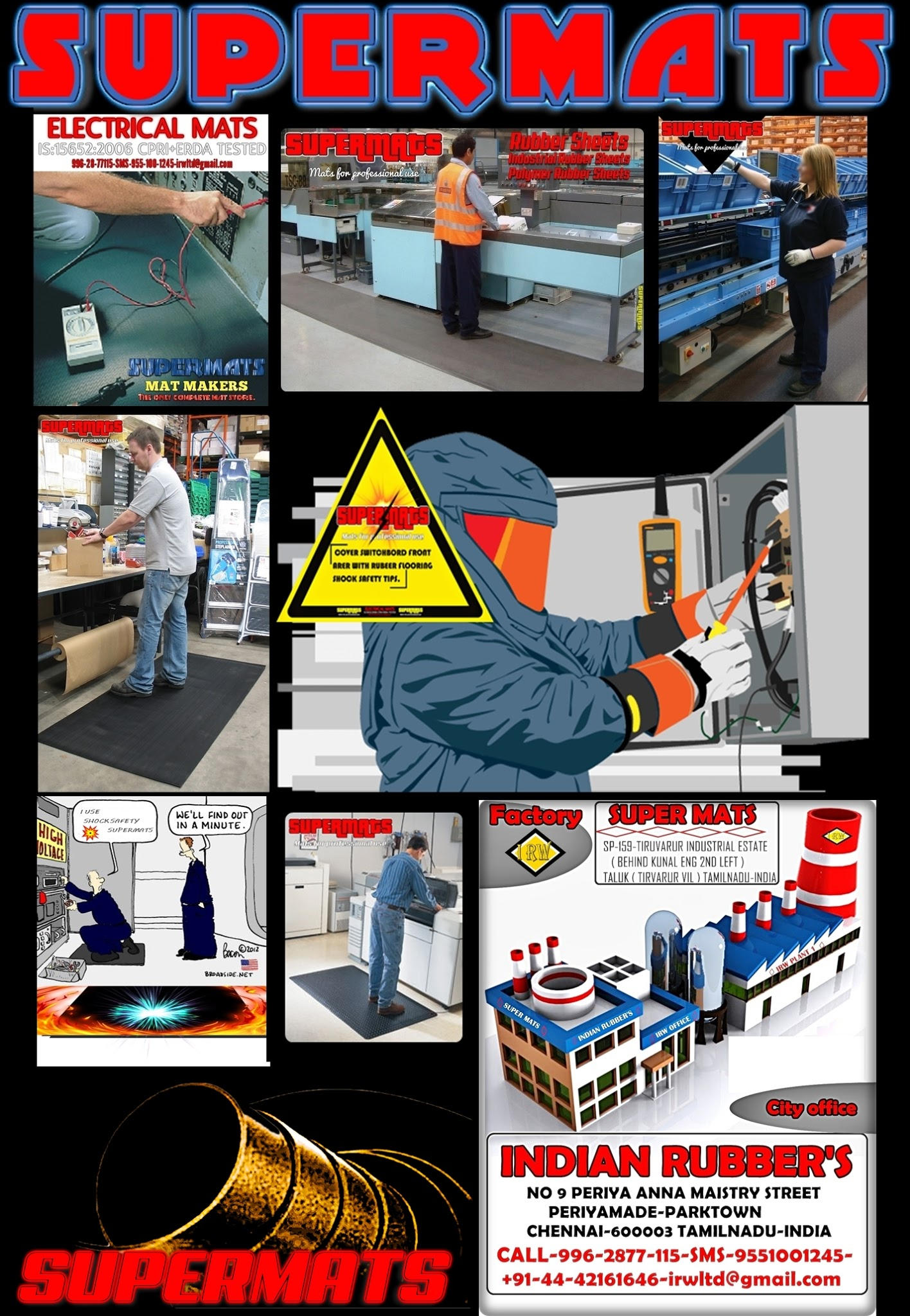 Rubber mats chennai - Electrical Shock Safety Rubber Mats Is 15652 Isi Marked With Test Certificate Google
