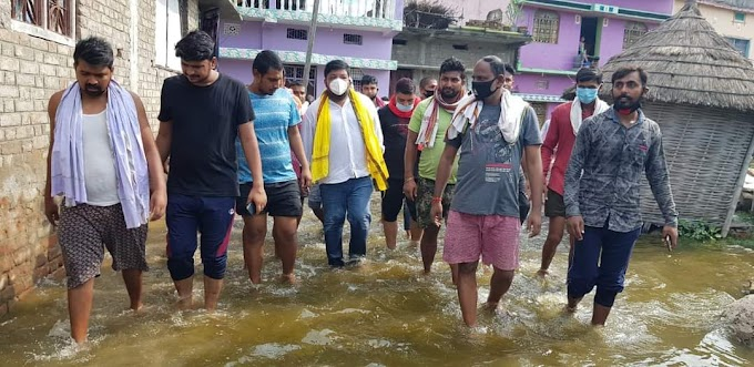 तरैया विधानसभा क्षेत्र में फिर से बाढ़ आने पर दुखी हुए युवराज सुधीर सिंह