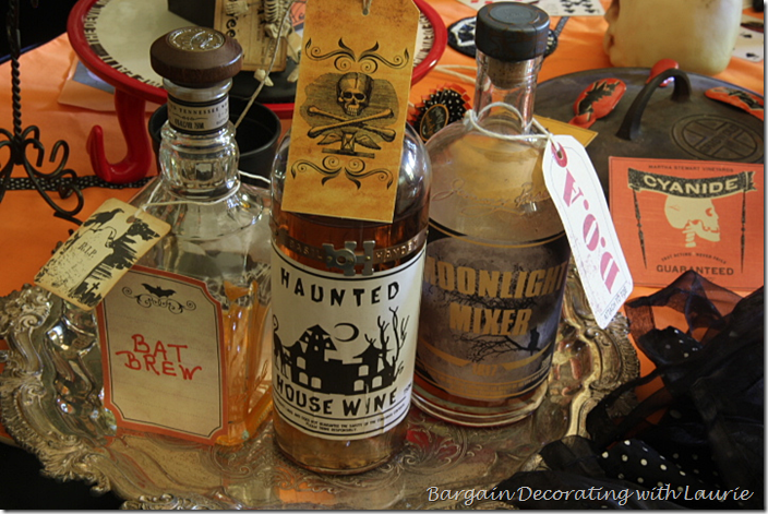 Halloween Bar Bottles
