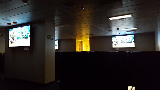 Movie theater on the Marine Atlantic Ferry. Every Journey Matters: Marine Atlantic Ferries to Newfoundland