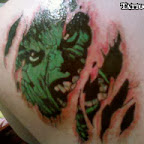 scapula into the skin - Incredible Hulk Tattoos Pictures