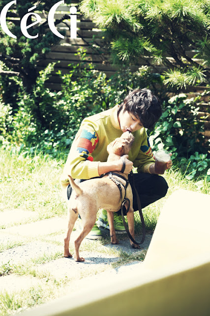 Jung Il Woo and his dog Ahwoo