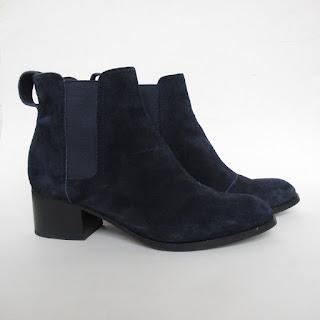 Rag & Bone Blue Suede Chelsea Boots