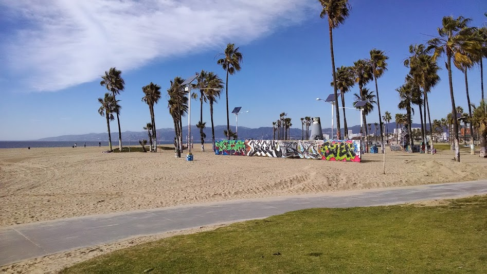 Solar PV providing light and power to Los Angeles; Santa Monica Pier ...
