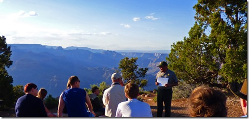 Story Ranger Marvin of Hopi Descent told, Desert View, Grand Canyon