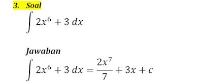 contoh integral tak tentu 3