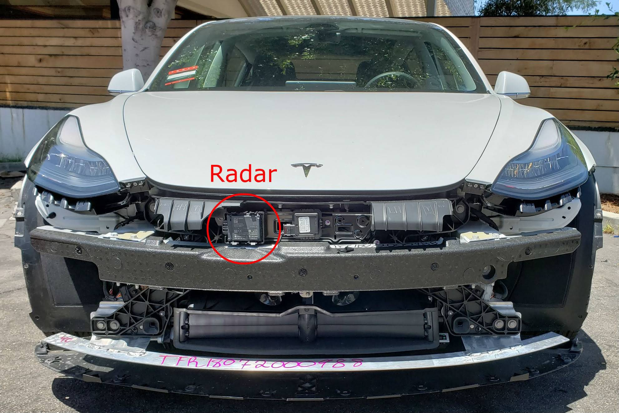 Front plate obstructing the radar - Tesla Owners Online