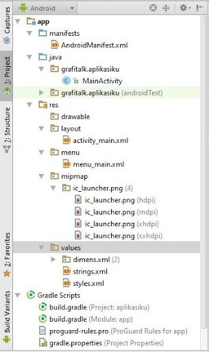 structure android studio grafitalk