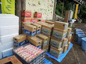 Photo: ドリンクや食材も届く