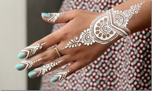 I Mehndi Henna Images : Latest white henna designs that will look fabulous on hands