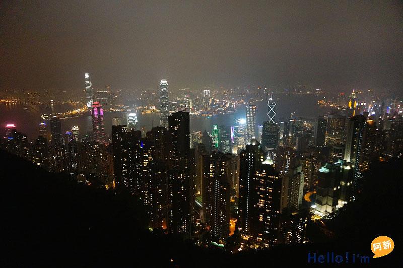 香港夜景,太平山夜景,凌霄閣摩天台428-8