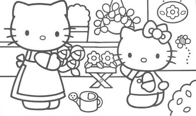 Winter Coloring Pages Hello Kitty Winter Coloring Pages  Kids
