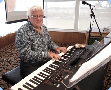 Rod Moffat played part of the arrival music and then gave a solo performance on his Korg Pa4X (76 note version). Photo courtesy of Dennis Lyons.