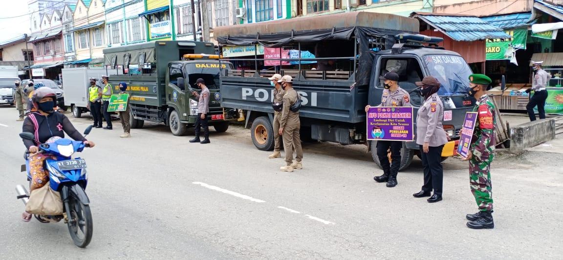 Anggota Kodim 0913/PPU beserta Satgas Gabungan Terus Laksanakan Patroli PPKM