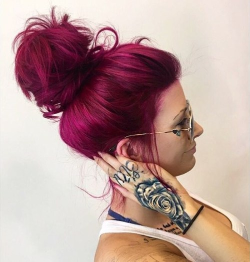 The Best Unboring Styles with Magenta Hair Color By Professional 2017 1