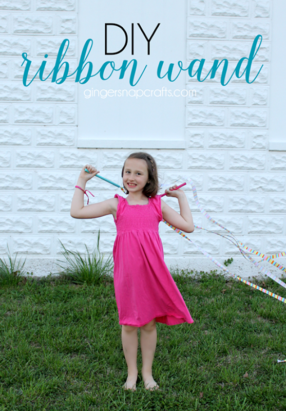 DIY Ribbon Wand with Offray Ribbon at GingerSnapCrafts.com #ribbon #DIY #offray_thumb
