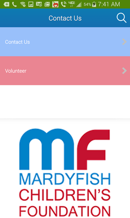 Mardy Fish Children Foundation- screenshot