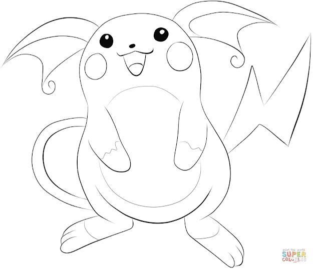 Click The Raichu Coloring Pages To View Printable Version Or Color It  Online Patible With Ipad And Android Tablets