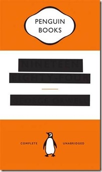 1984 Nineteen Eighty Four George Orwell Redacted Cover Penguin Books